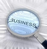 Business with a magnifying glass Stock Images