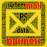 Business mail word cloud concept Royalty Free Stock Image