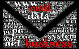 Business mail word cloud concept Stock Photos