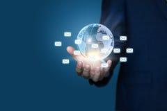 Business mailing worldwide. Stock Image