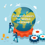 Business makes the world go round Stock Image