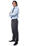 Business male in formals, full length portrait Royalty Free Stock Image