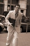 Business male on the move Royalty Free Stock Photo