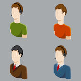 Business Male Profile Icons Stock Photography