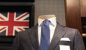 Business male suit. On shop mannequins high fashion retail display Royalty Free Stock Photos