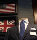 Business male suit. On shop mannequins high fashion retail display Stock Photography