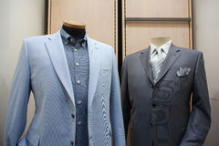 1c826bee3416 Business male suits. On shop mannequins high fashion retail display royalty  free stock photos