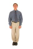 Business man #01. Business man standing up straight Royalty Free Stock Photos