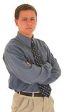 Business man #09. Business man with arms folded Royalty Free Stock Photo