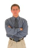 Business man #10. Business man with hands folded Stock Image