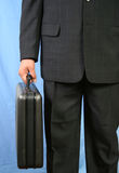 Business man. Holding his briefcase Royalty Free Stock Photos