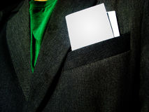 Business man. With paper (letter, card or ticket Royalty Free Stock Photo