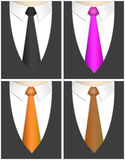 Business man. Four business man with different tie collors. (black, pink, orange and brown Stock Images
