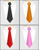 Business man. Four business man. Different tie colors. (black, orange, red and pink Royalty Free Stock Photo
