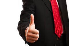 Business man. A business man with an open hand Stock Photo