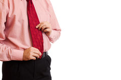 Business man. A business man with an open hand Stock Images