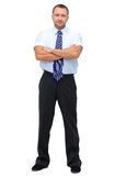 Business man. Young business man full body isolated on white background Royalty Free Stock Photos