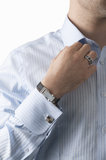 Business man. With shirt and jewellery Stock Photography