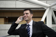 Business man. A business man on the phone Stock Photos