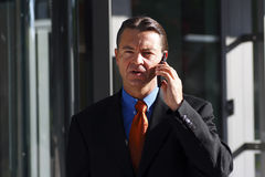 Business Man. Smart Business Man in Business Suit and talking on the phone Royalty Free Stock Photography