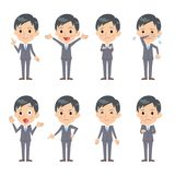 Business man. In different expressions Stock Photos