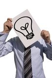 Business man. With a bright idea Stock Images