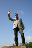 Business man. Posing royalty free stock image