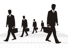 Business man. Business men are walking,follow rules docilely Royalty Free Stock Image