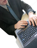 Business Man. Working on his laptop in the office Royalty Free Stock Photo