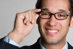 Business Man. Young attractive business man smiling Royalty Free Stock Photography