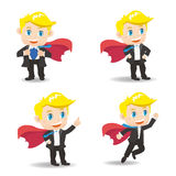 Business man act as superman Royalty Free Stock Photo
