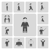 Business Man Activities Icons Stock Photo