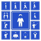 Business man activities icons set Royalty Free Stock Photo