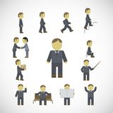 Business man activities icons set Stock Image
