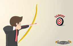 Business man aim to target concept. Beautiful graphic design of business man aim to target concept Stock Image