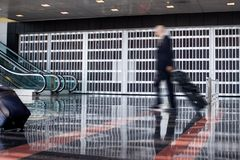 Business man at the Airport Royalty Free Stock Photos