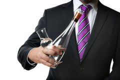 Business man with alcohol Stock Photography