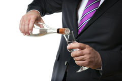 Business man with alcohol Stock Photo