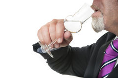 Business man with alcohol Stock Photos