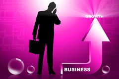 Business Man And Arrow Stock Image