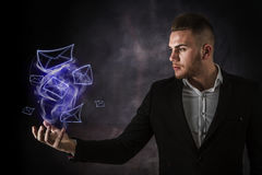 Business Man And Envelope Royalty Free Stock Photography