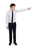 Business man angry pointing Royalty Free Stock Image