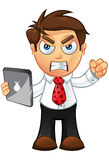 Business Man - Angry With Tablet Stock Photos