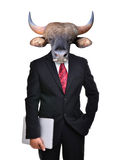 Business man with animal head isolated Stock Images