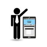 Business man app bank digital design. Vector illustration eps 10 Stock Images