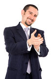 Business man applauding Royalty Free Stock Image