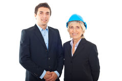 Business man and architect woman stock image