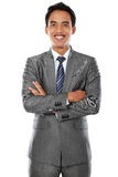 Business man with arm crossed Stock Image