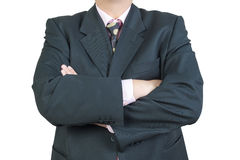 Business man arms crossed Stock Photography