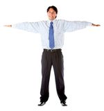 Business man with arms opened Royalty Free Stock Photo